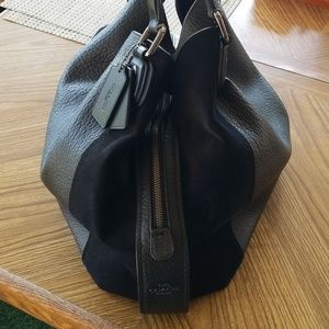 COACH handbag and wallet. Leather and suede